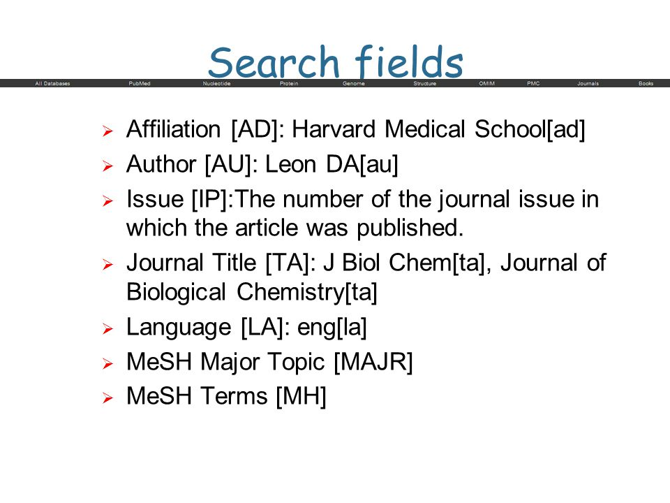 Search fields Affiliation [AD]: Harvard Medical School[ad]